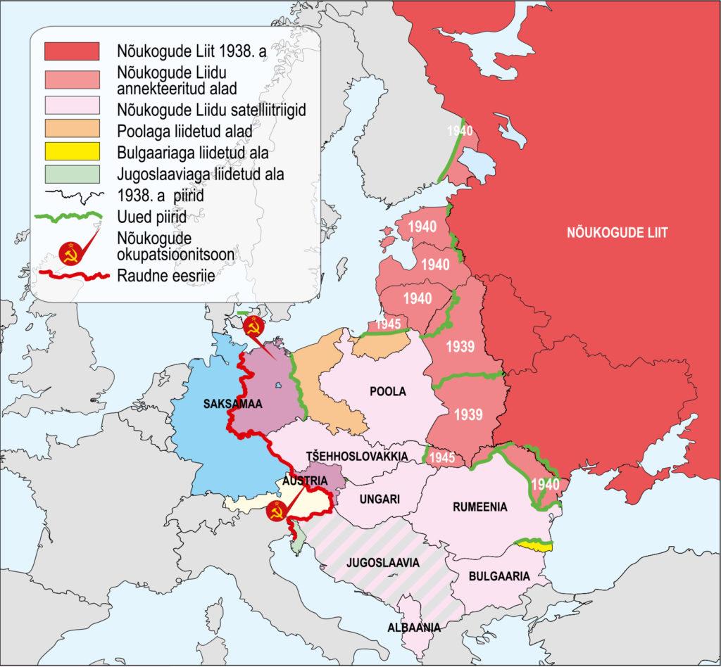 Territoriaalsed muutused Ida-Euroopas pärast Teist maailmasõda (õpik lk 34)