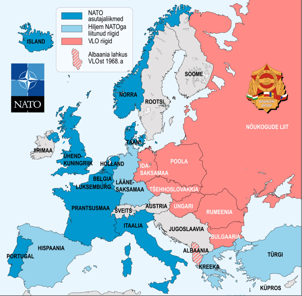 Euroopa jagunemine sõjalisteks blokkideks külma sõja ajal (õpik lk 51)