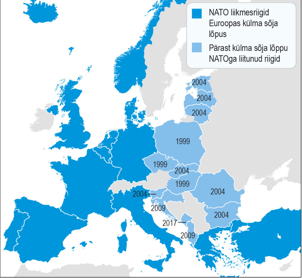 NATO laienemine Euroopas (õpik lk 248)