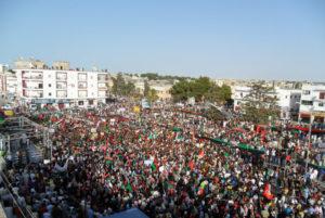 Meeleavaldus Al Bayda linnas Liibüas 2011. a (Allikas: ليبي صح / Wikimedia Commons)
