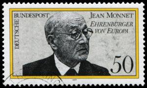 Euroopa aukodanikku Jean Monnet'd kujutav postmark (Allikas: wantanddo / shutterstock.com